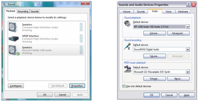 Configuration d'un PC Windows XP ou 7