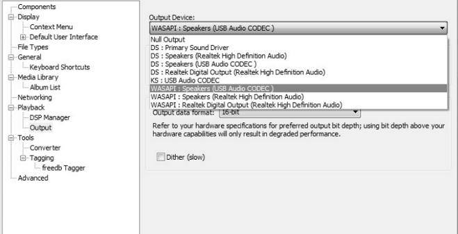 Configuration de Foobar 2000