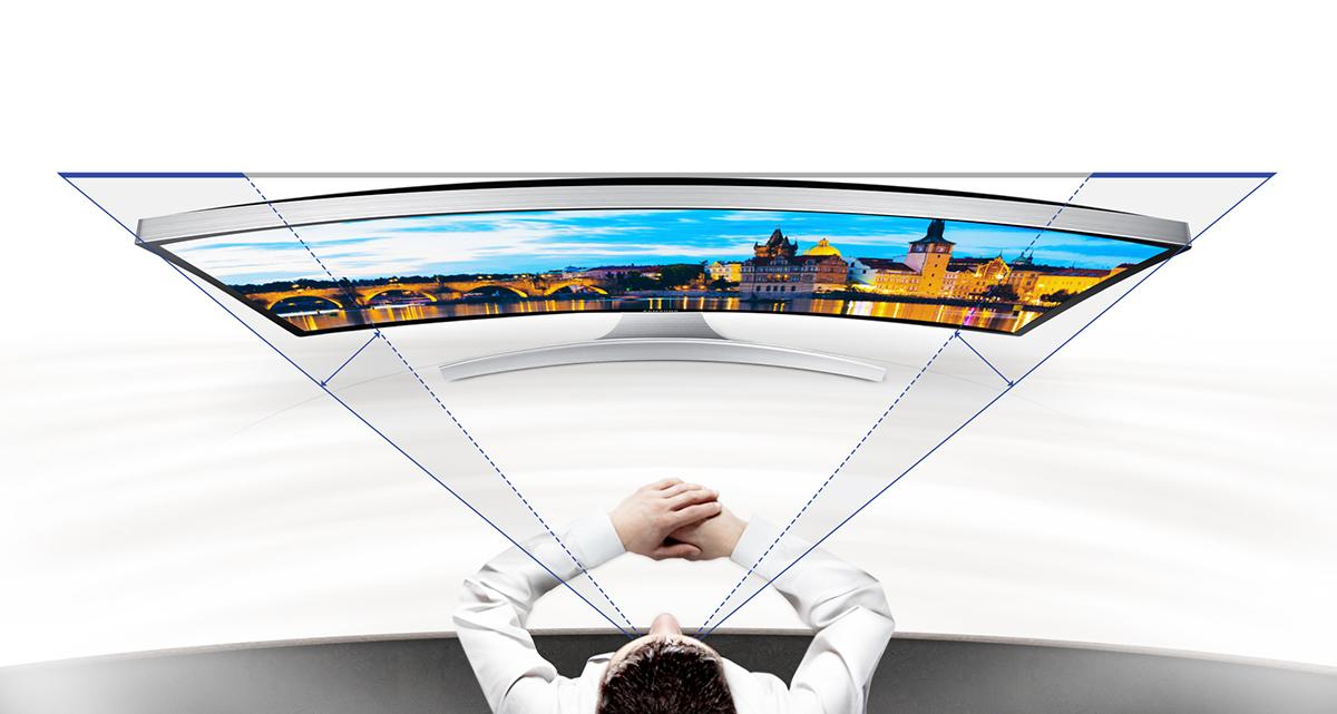 Champs de vision sur un écran incurvé Samsung