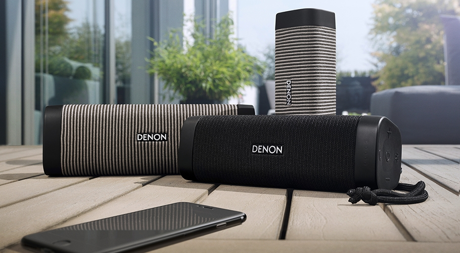 Enceinte sans fil Bluetooth® avec amplification de Classe D et indice de protection IP67 - DENON Envaya Mini DSB-150BT