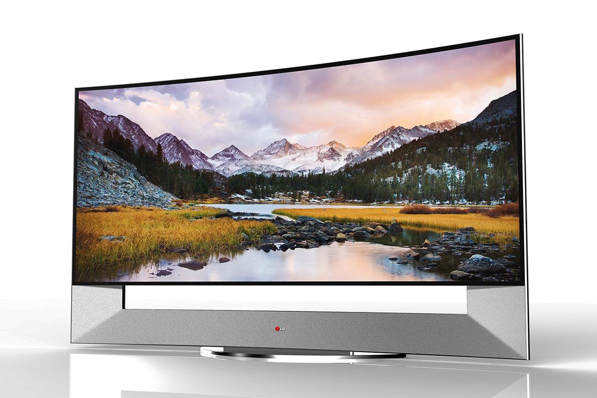 Tv OLED incurvé 4K LG de 105 pouces présenté lors du CES de Las Vegas 2014