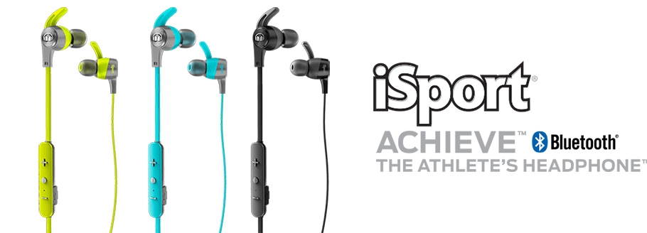 Conception intra-auriculaire sans fil Bluetooth® 4.0 pour le sport - MONSTER iSport® Achieve Bluetooth®