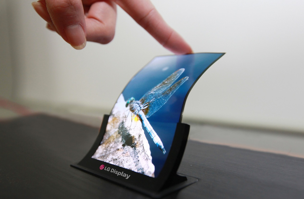 Prototype LG d'écran OLED flexible