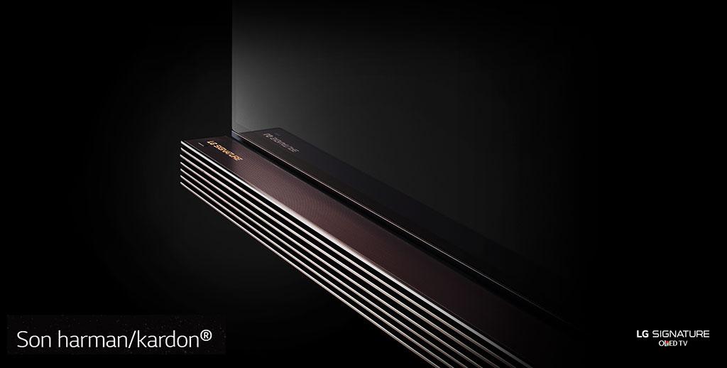 TV LG Signature OLED 4K - détail