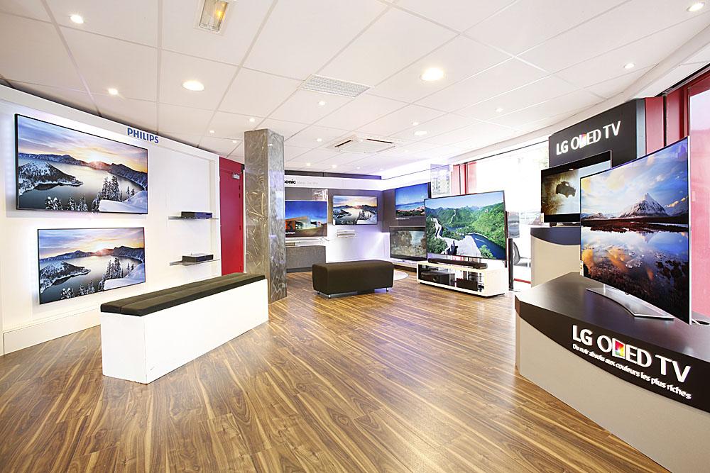 Espace TV du magasin Cobra de Boulogne