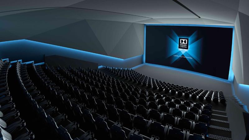 L'intérieur d'un Dolby Cinéma