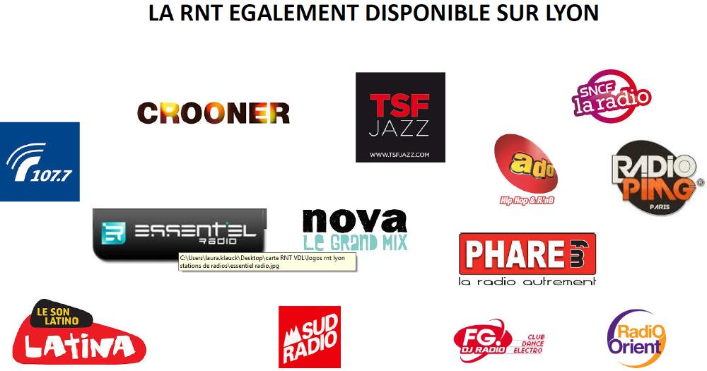 Listes des Radios Numériques à Lyon (RNT et DAB+ Lyon)
