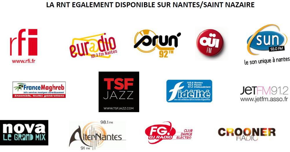 Listes des Radios Numériques à Nantes (RNT et DAB+ Nantes)