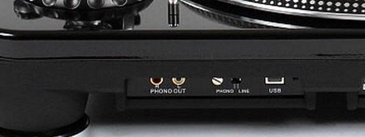 Une platine avec préampli phono intégré