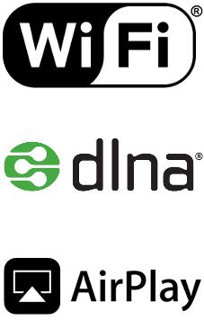 Enceintes airplay, wifi et dlna